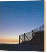 Star Trails In Wellfleet Cape Cod Wood Print