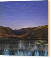Star Trails Over Hauser Wood Print