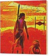 Star Wars 8 Last Jedi - Pa Wood Print