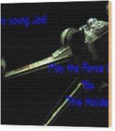 Star Wars Birthday Card 7 Wood Print