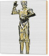 Star Wars C-3po Droid Tee Wood Print