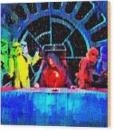 Star Wars Empire Last Supper - Pa Wood Print