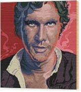 Star Wars Han Solo Pop Art Portrait Wood Print
