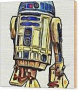 Star Wars R2d2 Droid - Da Wood Print