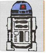 Star Wars R2d2 Droid Robot Wood Print