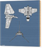 Star Wars - Shuttle Patent Wood Print