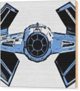 Star Wars Tie Fighter Advanced X1 Wood Print