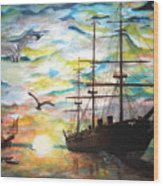 Starboard Flight Wood Print