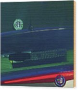 Starbucks 2 Wood Print