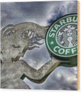Starbucks Coffee Wood Print