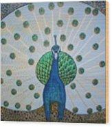Starbucks Peacock  Wood Print