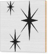 Starburst 1 Trio  Wood Print