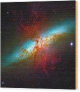 Starburst Galaxy M82 Wood Print