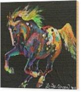 Starburst Pony Wood Print