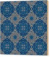 Stardrop Diamond Blue Wood Print