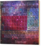 Stardust Periodic Table Wood Print
