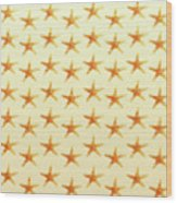 Starfish Pattern. Wood Print