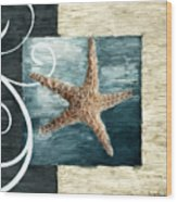 Starfish Spell Wood Print