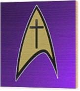 Starfleet Pastor  Wood Print