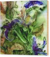 Starflower Wood Print