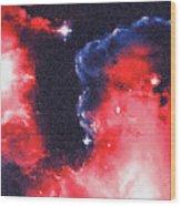 Stargazer - 02 Wood Print