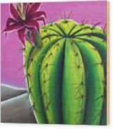 Stargazer Cactus Wood Print