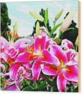 Stargazer Lilies #1 Wood Print