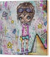 Starla Jones The 3rd Intergalactic Star Jumper Wood Print