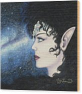 Starlight Maiden Wood Print