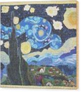 Starry Flight Wood Print