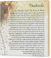 Starry Guardian Angel Desiderata Wood Print