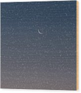 Starry Morning Sky Wood Print
