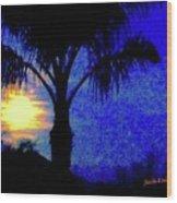 Starry Night At Casapaz Wood Print