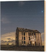 Starry Night At Dungeness Wood Print