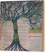Starry Night-inspired Tree Wood Print