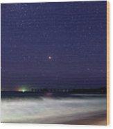 Starry Night Seascape Wood Print