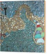 Starry Riverwalk Wood Print