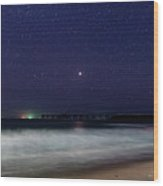 Starry, Starry Night At Catherine Hill Bay Wood Print