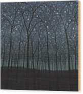 Starry Trees Wood Print