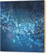 Stars And Bokeh Wood Print