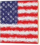 Stars And Stars And Stripes Wood Print