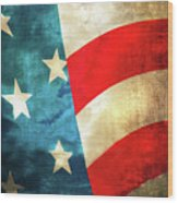 Stars And Stripes Curved Wood Print