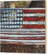 Stars And Stripes Wood Print