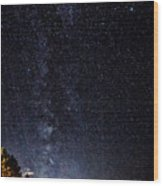 Stars At Lake Tahoe Wood Print