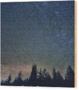 Stars At Night Wood Print