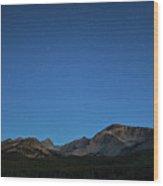 Stars Over Brainard Lake Wood Print