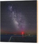 Stars Over Lake Ontario Wood Print