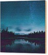 Stars Over Lake Vermilion Wood Print