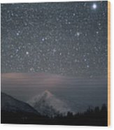 Stars Over Rocky Mountain National Park Wood Print