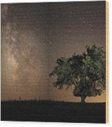 Stars Shine Brightly Wood Print